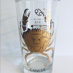 Zodiac glass cup. Cancer